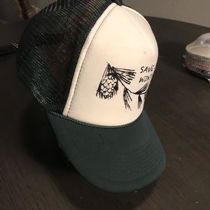 Vintage Accessories - VTG Save Our Winters SnapBack Trucker Hat